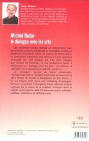 Michel butor le dialogue avec les arts - 4ème de couverture - Format classique