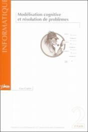 Modélisation cognitive et résolution de problèmes - Couverture - Format classique