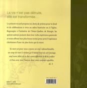 La vie n'est pas detruite, elle est transformée; textes pour prier l'espérance chrétienne - 4ème de couverture - Format classique