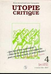 Utopie critique n° 4 - Couverture - Format classique