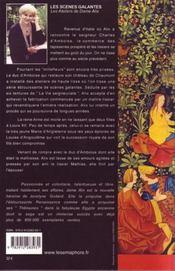 Les ateliers de dame alix t.4 ; les scènes galantes - 4ème de couverture - Format classique
