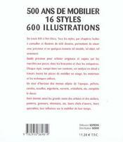 Tous Les Styles ; De Louis Xiii A L'Art Deco - 4ème de couverture - Format classique