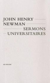 Sermons universitaires - Couverture - Format classique