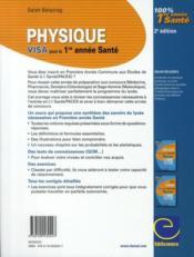 Physique ; visa pour la 1ère année santé (2e édition) - 4ème de couverture - Format classique