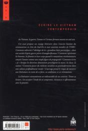Écrire le Vietnam contemporain ; guerre, corps, littérature - 4ème de couverture - Format classique