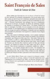 Traite de l'amour de dieu mis en francais contemporain - 4ème de couverture - Format classique