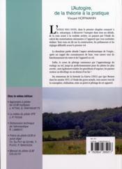 L'autogire de la theorie a la pratique - 4ème de couverture - Format classique