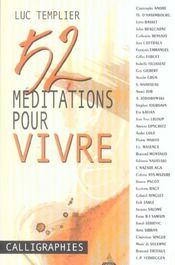 52 meditations pour vivre - Intérieur - Format classique
