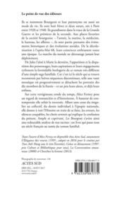 Les Bourgeois - 4ème de couverture - Format classique