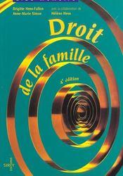 Droit de la famille (4e edition) - Intérieur - Format classique