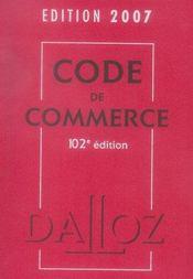 Code De Commerce (Edition 2007 - Intérieur - Format classique