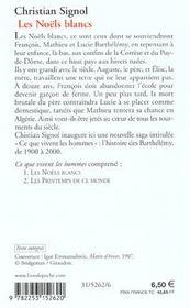 Les noëls blancs t.1 - 4ème de couverture - Format classique