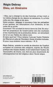 Dieu, un itinéraire - 4ème de couverture - Format classique