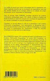 Systemes D'Information Geographique, Pouvoir Et Organisations ; Geomatique Et Strategies D'Acteur - 4ème de couverture - Format classique
