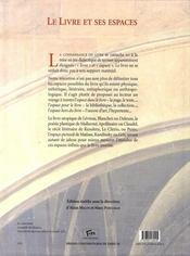 Le livre et ses espaces - 4ème de couverture - Format classique