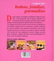 Coment Faire Les Bonbons Les Gourmandises Et Les Friandises - 4ème de couverture - Format classique