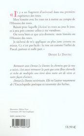 Journal des roses - 4ème de couverture - Format classique