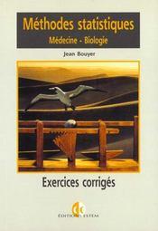 Methodes statistiques medecine biologie - Intérieur - Format classique