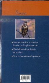 Les oiseaux - 4ème de couverture - Format classique