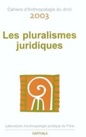 Pluralismes juridiques - Couverture - Format classique