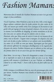 Fashion mamans - 4ème de couverture - Format classique