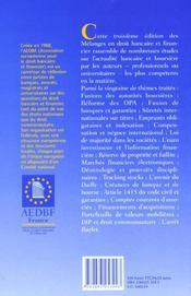 Droit bancaire financier - 4ème de couverture - Format classique