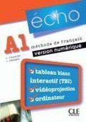 ECHO ; niveau A1 pour activités complémentaires sur tableau blanc interactif - Couverture - Format classique
