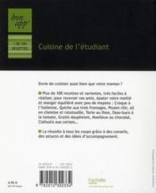 telecharger Bon app' cuisine de l'etudiant livre PDF en ligne gratuit
