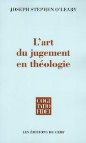 L'art du jugement en théologie - Couverture - Format classique