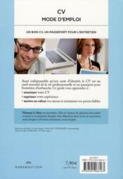 CV mode d'emploi - 4ème de couverture - Format classique