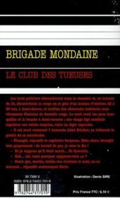 Brigade mondaine t.319 ; le club des tueuses - 4ème de couverture - Format classique