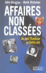 Affaires non classees - Couverture - Format classique
