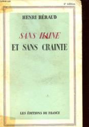 Sans Haine Et Sans Crainte - Couverture - Format classique
