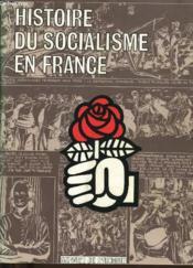Histoire Du Socialisme En France - Couverture - Format classique