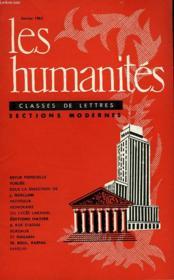 Les Humanites - Classe De Lettres Sections Modernes - Fevrier 1962 - Couverture - Format classique