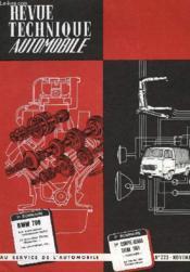 Revue Technique Automobile - N°223 - Couverture - Format classique