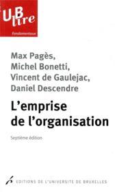 L'emprise de l'organisation - Couverture - Format classique