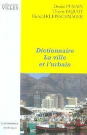 Dictionnaire La Ville Et L'Urbain - Intérieur - Format classique