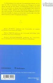 Dictionnaire La Ville Et L'Urbain - 4ème de couverture - Format classique