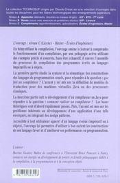 Genie Logiciel Compilation Des Langages De Programmation Ce Que Fait Un Compilateur Comment Realiser - 4ème de couverture - Format classique