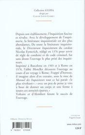 Abrege Du Manuel Des Inquisiteurs - 4ème de couverture - Format classique