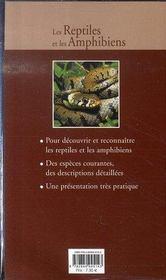 Les reptiles et les amphibiens - 4ème de couverture - Format classique