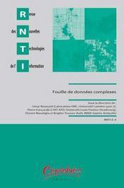 Revue des nouvelles technonologies de l'information ; fouilles de donnees complexes - Intérieur - Format classique