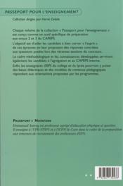 Passeport natation ; oral 2 - 4ème de couverture - Format classique