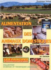Alimentation des animaux domestiques t.1 ; les prinicipes - Couverture - Format classique