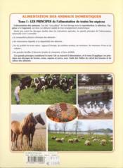 Alimentation des animaux domestiques t.1 ; les prinicipes - 4ème de couverture - Format classique
