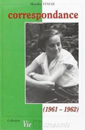 Correspondance (1961-1962) - Couverture - Format classique