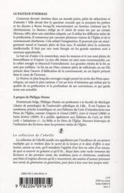 Le Pasteur D Hermas - 4ème de couverture - Format classique