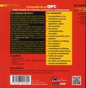 L'essentiel de la QPC ; mode d'emploi de la question prioritaire de constitutionnalité (2e édition) - 4ème de couverture - Format classique