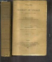 Traite Du Contrat De Louage Livre Iii Titre Viii Du Code Civile - En Deux Tomes - Tomes 1 + 2. - Couverture - Format classique